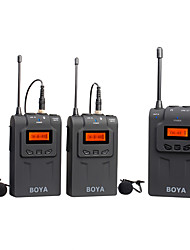 BOYA BY-WM6 UHF Professional Omni-Directional Wireless Lavalier Microphone System for DSLR Camera Camcorder