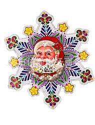 Christmas Decorations / Christmas Party Supplies Holiday Supplies Santa Suits Paper Rainbow /Random 6Pcs