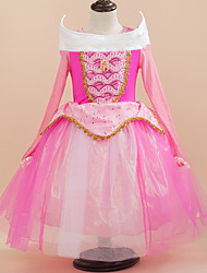 Cosplay Costumes Princess Festival/Holiday Halloween Costumes Pink Patchwork Dress / More Accessories Christmas Female / Kid Terylene