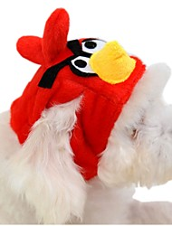 Gatos / Cães Bandanas e Chapéus Vermelho Roupas para Cães Inverno / Primavera/Outono Desenhos Animados Fofo