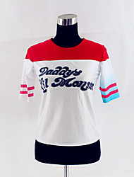 Disfraces de Cosplay Súper Héroes Cosplay de Películas Rojo / Blanco Retazos Camiseta Halloween / Navidad / Año Nuevo Mujer Algodón