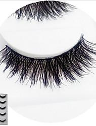 Eyelashes lash Full Strip Lashes Eyelash Crisscross Natural Long Lifted lashes Volumized Natural Curly Handmade Fiber Black Band 12mm