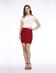 Women's Fashion Solid Color Skirts