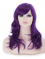 58cm grande perruque ondulée longue perruques frisées cosplay party / lolita partie de costume robe cheveux fantaisie (violet)