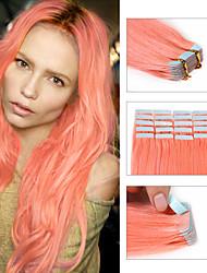 fita 8a em extensões de pele atacado trama da Malásia extensões de cabelo fita retas 20pcs dupla desenhadas / lot trama de pele