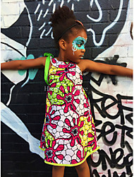Girl's Casual/Daily Striped Dress,Spandex All Seasons Sleeveless