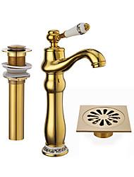 Waterfall SpoutTi-PVD Single Handle Bathroom Sink Vessel Faucet Basin Mixer Tap Tall Body