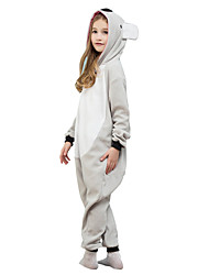 Kids Kigurumi Pajamas Koala Leotard/Onesie Festival/Holiday Animal Sleepwear Halloween Gray Solid Polar Fleece For Kid Halloween Christmas