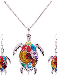 Jewelry 1 Necklace / 1 Pair of Earrings Non Stone Party / Daily / Casual 1set Women Silver Wedding Gifts