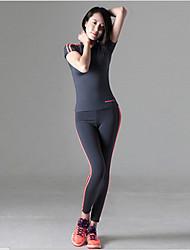 двойной тип палки высота луча упругих тонких ног упражнения йоги аэробика фитнес бег брюки девять