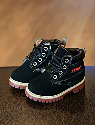 Boy's Boots Fall Winter Others Fabric Outdoor Low Heel Others Black Brown Yellow Others
