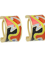 Colorful Enamel Small Stud Earrings for Ladies