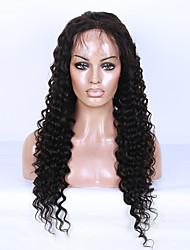 bouclés avant de dentelle brazilian perruques de cheveux humains vierges en vrac pour les femmes noires 130% dentelle de densité devant