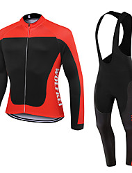 WOLFKEI Spring/Summer/Autumn Long Sleeve Cycling JerseyLong Bib Tights Ropa Ciclismo Cycling Clothing Suits #WK61