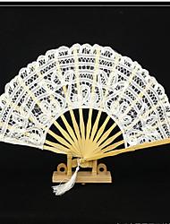 Вентиляторы и зонтики-# Пьеса / Установить Веера Белый Черный Высота 28 см, диаметр 50 см Высота 28 см, диаметр 4,8 см