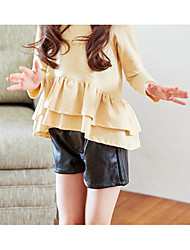Girl Casual/Daily Solid Shorts-Rayon Summer