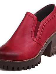 Women's Heels Spring Summer Fall Winter Platform Comfort Gladiator Leatherette Dress Casual Chunky Heel Platform Block HeelBraided Strap