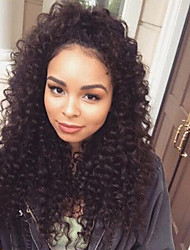 Lace Front Human Hair Wigs Indian Virgin Hair Lace Wig 8A Loose Deep Curly Natural Color Density 120% For Black Woman