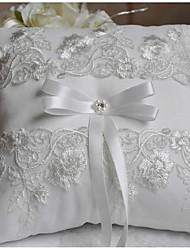 Branco Marfim 1 Fitas Laço Perola Imitação Strass Bordados Cetim