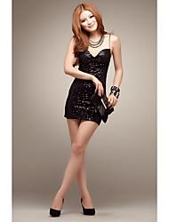Women's Club Sexy Bodycon / Sheath Dress,Solid Strap Mini Sleeveless Black Modal Summer Low Rise Micro-elastic Medium