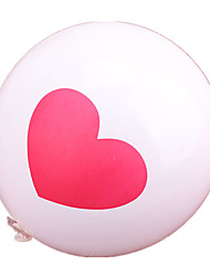 Balloons Holiday Supplies Circular / Heart-Shaped Rubber Red / White For Boys / For Girls 5 to 7 Years
