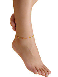 Femme Bracelet de cheville/Bracelet Cuivre Simple Style Mode Européen Bijoux Pour Plage