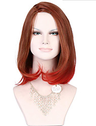 6A Synthetic Cosplay Natural Wigs Women's Long Water Wave Medium Brown/Red Wig Heat Resistant Fiber Wig