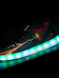 LED Light Up Shoes,Men's Sneakers Fall Winter Comfort PU Casual Flat Heel Lace-up Black