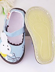 Girl's Flats First Walkers Fabric Casual Black Blue Pink Gray