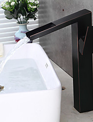 High Quality Antique Oil-rubbed Bronze Brass Waterfall Bathroom Sink Faucet - Black