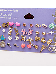 Jewelry 1 Package Non Stone Casual Valentine Alloy 1set Women Multi color Wedding Gifts