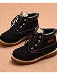 Boy's Boots Comfort Leatherette Casual Black Yellow