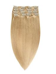 Clip 100% cheveux remy humains clips humains de cheveux épais extension14-20inch 70g 22inch 100g70g 22inch 100g