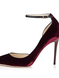 Черный Бордовый Темно-коричневый-Женский-Для прогулок-ДерматинOthers-Обувь на каблуках