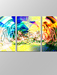 VISUAL STAR®Amazing Abstract Wall Art for Home Decoration 3 Pieces Canvas Prints with Frame Ready to Hang