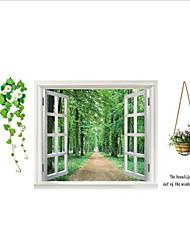 fenêtre naturelle mur paysages PVC sticker mural décalcomanies