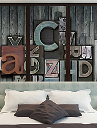 JAMMORY 3D Wallpaper For Home Contemporary Wall Covering Canvas Material Magic Letters XL XXL XXXL