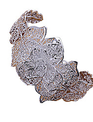 Sweet Women's Silver Plated Cuff Bracelet (1 Pc)  Christmas Gifts