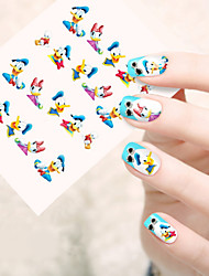 1pcs  Water Transfer Nail Art Stickers Red Lips Flower Lovely Cartoon Nail Art Design STZ51-55