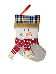 Christmas Toys / Gift Bags Holiday Supplies Santa Suits Textile Coffee / Beige / Ivory All