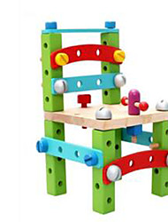 Building Blocks / Educational Toy For Gift  Building Blocks Leisure Hobby Square Wood 5 to 7 Years Rainbow Toys