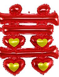 Balões Decoração Para Festas Quadrangular alumínio Vermelho Para Meninos Para Meninas 5 a 7 Anos