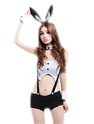 Cosplay Costumes / Masquerade Cosplay / Bunny Girls Movie Cosplay White Solid Top / Pants / Headwear Halloween / Carnival Female Polyester