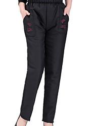Femme Chinoiserie Taille Haute Micro-élastique Chino Pantalon,Ample Imprimé