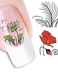 Water Transfer Printing Cartoon loveliness Pattern Nail Stickers