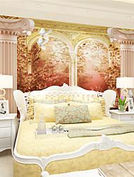 Art Decó / 3D Fondo de pantalla Para el hogar Retro Revestimiento de pared , Lienzo Material adhesiva requerida Mural , Revestimiento de