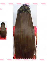 Hot Selling  Clips  Colour  Colorful    Brown   Bar  Wholesale  Hair Extension  Girl   Beautiful  24 Inch