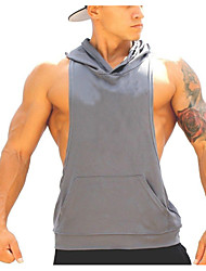 Running Tops Sleeveless Breathable Running Sports Sports Wear Inelastic Loose Outdoor clothing Athleisure Green Red Gray Black Summer