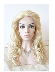 Sylvia Synthetic Lace front Wig Blonde Heat Resistant Long Curly Synthetic Wigs