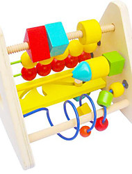 Stress Relievers / Educational Toy For Gift  Building Blocks Leisure Hobby Circular / Square Wood 2 to 4 Years Rainbow Toys